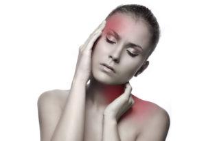 Parti infiammate della testa e del collo