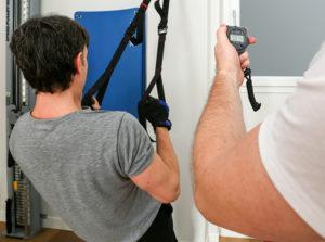 Strumento che misura la forza della massa muscolare